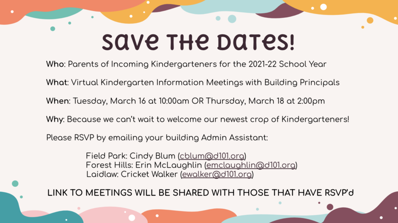 Kindergarten Save the Date